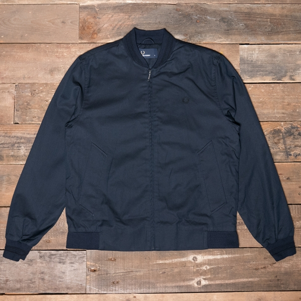 Fred Perry – J2519 Woven Pique Bomber Jacket 226 Blue Granite