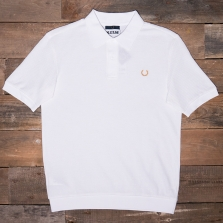 Fred Perry Sm3011 Miles Kane Mesh Pique Shirt 100 White