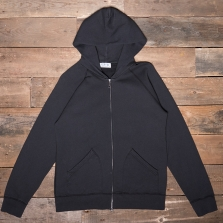 VELVA SHEEN 161154 10oz Hooded Zip Through Sweat Black