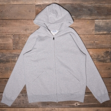 VELVA SHEEN 161154 10oz Hooded Zip Through Sweat Heather Grey