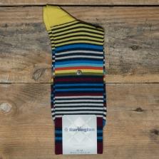 BURLINGTON 20535 Stripe Socks 6120 Marine
