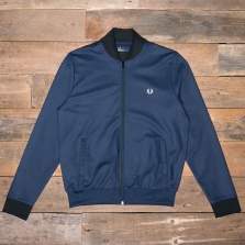 Fred Perry J3501 Bomber Neck Track Jacket 226 Blue Granite
