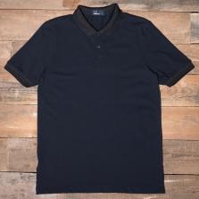 Fred Perry M3504 Matt Tipped Collar Pique Shirt 608 Navy