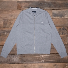 Fred Perry J3527 Panelled Bomber Neck Sweat 420 Steel Marl