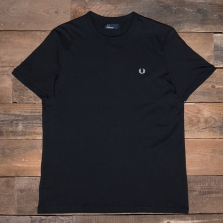 Fred Perry M3519 Ringer T Shirt 102 Black