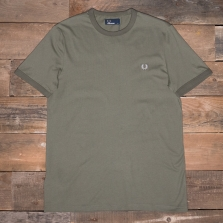 Fred Perry M3519 Ringer T Shirt F59 Dusty Olive