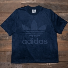 adidas Originals Cw1326 Velour Tee Navy