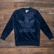 adidas Originals Cw1328 Velour Crew Navy