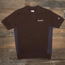 CHAMPION WOOD WOOD 211885 Crewneck Short Sleeve Sweat Ms529 Brown
