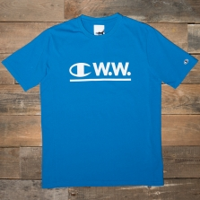 CHAMPION WOOD WOOD 211884 Crewneck T Shirt Bs073 Blue
