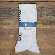 Champion Beams 804407 Beams 3pp Crew Socks 2 Pack Ww001 White