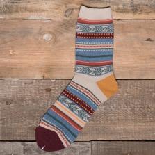 COMFY SOCKS Tribal Stripe Socks Yellow Heel