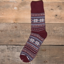 COMFY SOCKS Nordic Socks Red
