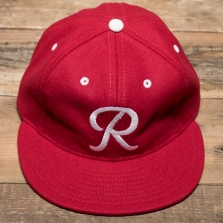 EBBETS FIELD FLANNELS Seattle Rainiers 1955 6 Panel Cap Red