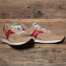 SAUCONY S70369-16 Dxn Trainer Vintage Tan Red