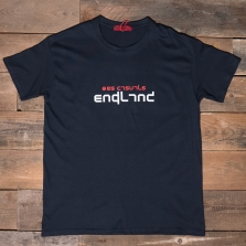 80s Casuals 80s England T Shirt Navy