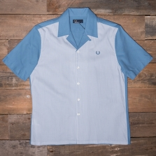 Fred Perry M3548 Stripe Panel Shirt F54 Washed Dusk