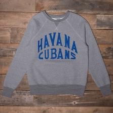 EBBETS FIELD FLANNELS Havana Cubans Sweatshirt Grey