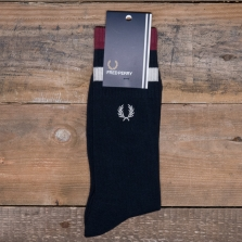 Fred Perry C3100 Tipped Sports Sock 711 Navy Port