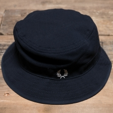 Fred Perry Hw3640 Pique Reversible Fisherman Hat 608 Navy