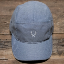 Fred Perry Hw3635 Oxford 5 Panel Baseball Cap 146 Light Smoke
