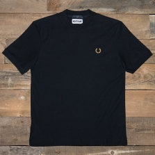 Fred Perry Sm4007 Miles Kane Crew Neck Pique T Shirt 102 Black