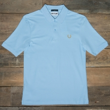 Fred Perry Sm4005 Miles Kane Tonal Tipped Pique Shirt 453 Glacier
