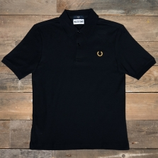 Fred Perry Sm4005 Miles Kane Tonal Tipped Pique Shirt 102 Black