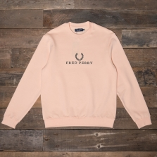 Fred Perry M2606 Embroidered Sweatshirt G15 Apricot Ice