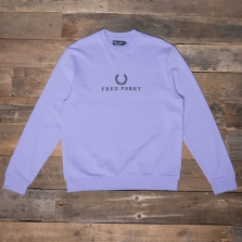 Fred Perry M2606 Embroidered Sweatshirt 1991 Lilac