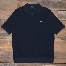 Fred Perry M4522 V Insert Waffle Sweat 608 Navy