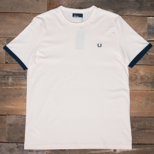 Fred Perry M3519 Ringer T Shirt 560 Ecru