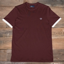Fred Perry M3519 Ringer T Shirt D33 Stadium Red