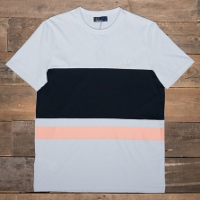 Fred Perry M4518 Colour Block T Shirt B50 Pearl