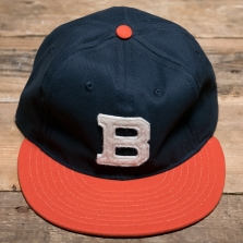 EBBETS FIELD FLANNELS Brooklyn Bushwicks 1949 Cotton 6 Panel Navy