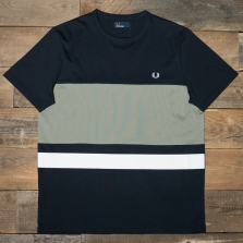 Fred Perry M4518 Colour Block T Shirt 608 Navy