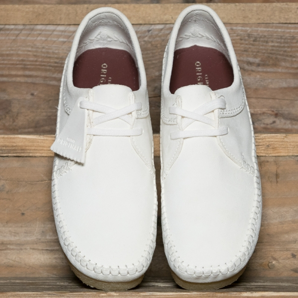 Clarks Originals Weaver Suede White The R Store