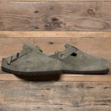BIRKENSTOCK 011293 Boston Suede Soft Footbed Forest