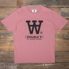 WOOD WOOD Ace Print T Shirt Dark Rose