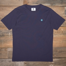 WOOD WOOD Ace Badge T Shirt Dark Purple