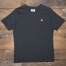 WOOD WOOD Ace Badge T Shirt Dark Grey Melange