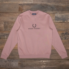 Fred Perry M4544 Embroidered Sweatshirt G23 Grey Pink