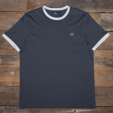 Fred Perry M3519 Contrast Ringer T Shirt 491 Charcoal