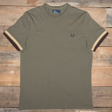 Fred Perry M4562 Bold Tipped T Shirt 128 Iris Leaf