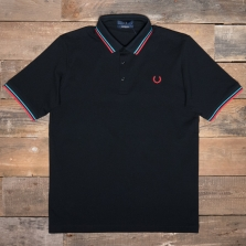 Fred Perry M102 Made In Japan Pique Shirt G82 Black