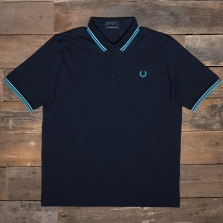 Fred Perry M102 Made In Japan Pique Shirt G81 Navy