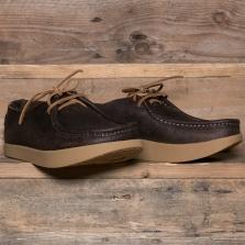 YOGI Willard Negative Heel Shoe Leather Chocolate