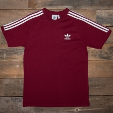 adidas Originals Dh5810 3 Stripes Tee Burgundy