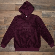 adidas Originals Dh7079 Winterized Pull Over Hoody Maroon