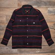 LEE Loco Wool Overshirt Aubergine